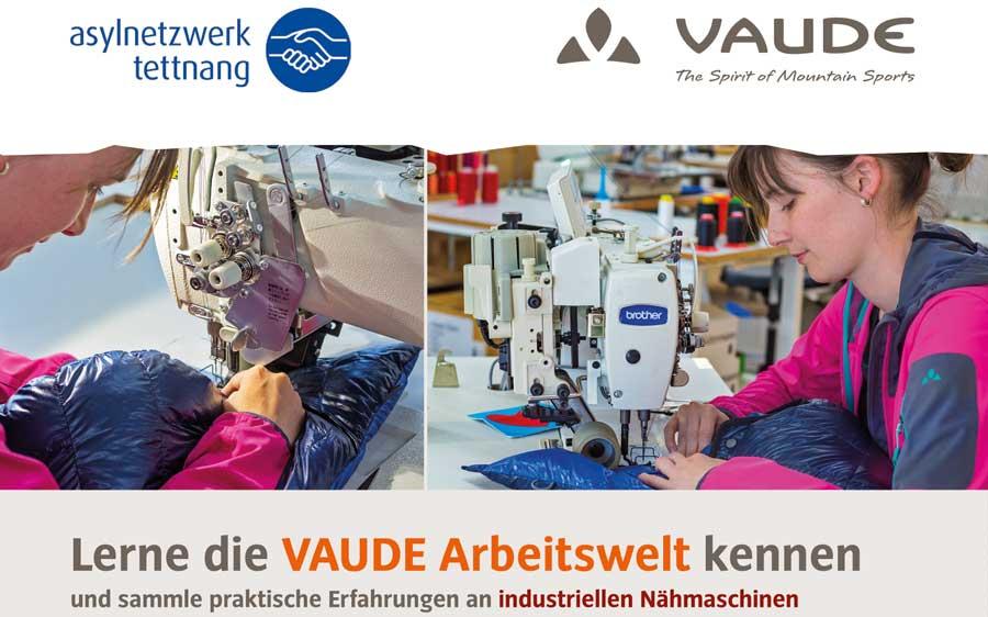 VAUDE Projekt in Kooperation mit dem Asylnetzwerk Tettnang