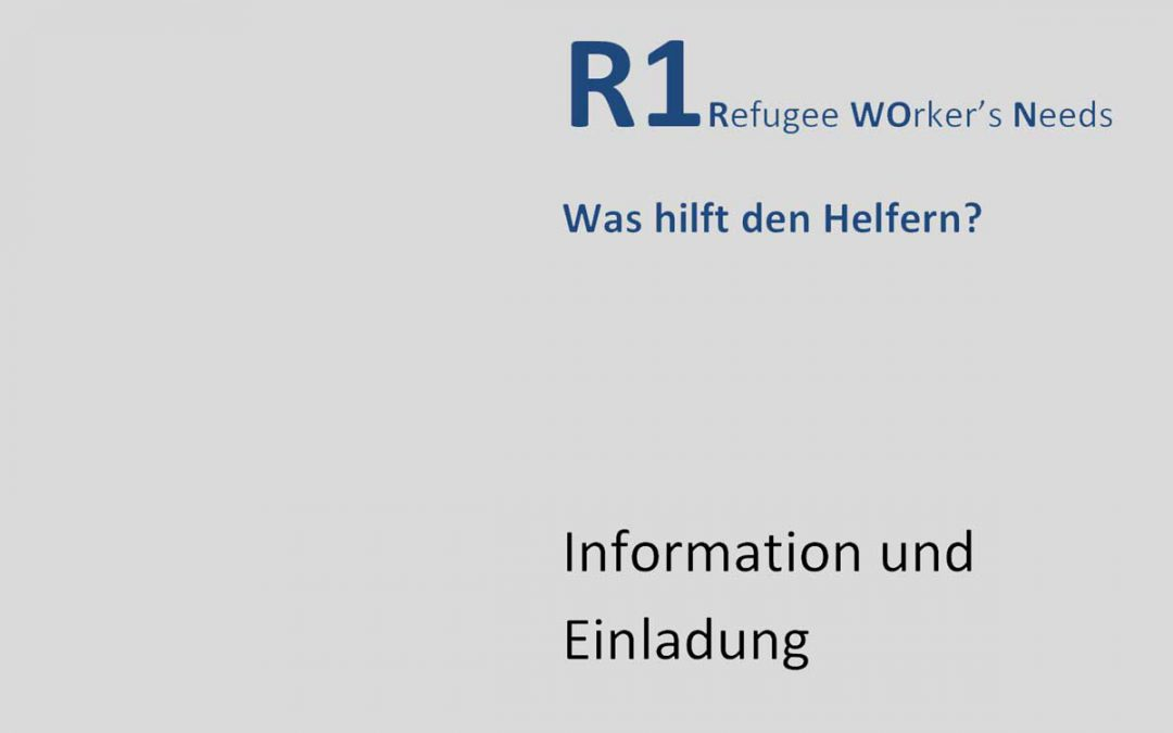 R1 Refugee Worker's Needs – Was hilft den Helfern