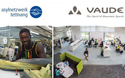 Mittelstandspreis für Soziales Engagement an Vaude für ein gemeinsames Projekt mit dem Asylnetzwerk.