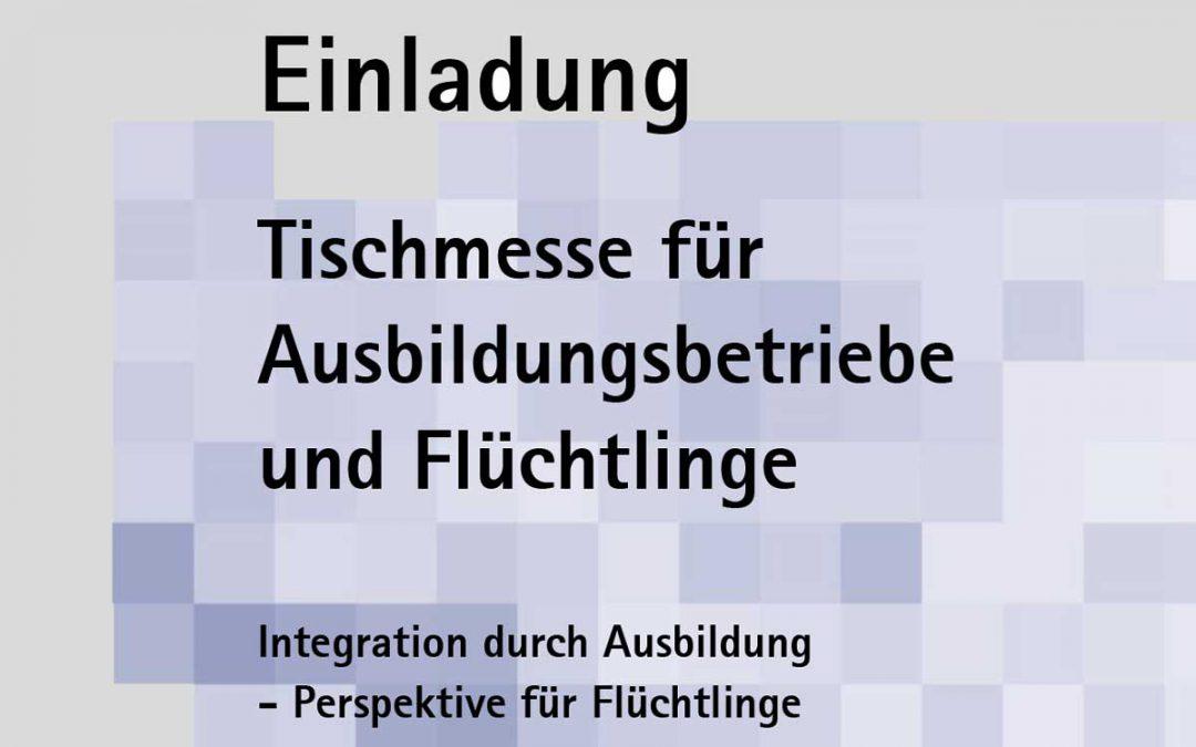 Tischmesse für Ausbildungsbetriebe und Flüchtlinge am 25.10.2016