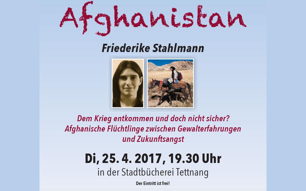 Vortrag »Warum fliehen Menschen – Afghanistan« am 25.4.17