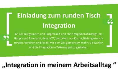 Einladung zum Runden Tisch Integration am 9.4.2019